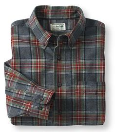 Scotch Plaid Flannel Shirt, Traditional Fit: Flannel, Chamois and Lined   Free Shipping at L.L.Bean - Medium