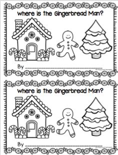Gingerbread Positional Word Interactive Emergent Reader (from Preschool Wonders) Creative Curriculum Preschool, Preschool Classroom, Classroom Activities, Preschool Crafts, Preschool Christmas, Christmas Activities, Christmas Themes, Kindergarten Activities, Kindergarten Class