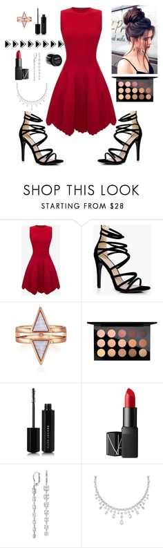 """Untitled #101"" by silviamachado20 ❤ liked on Polyvore featuring Alexander McQueen, Boohoo, MAC Cosmetics, Marc Jacobs, NARS Cosmetics, Blue Nile and NYX"