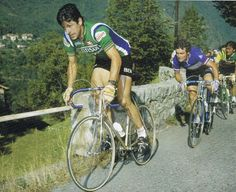 Giro di Lombardia 1978, 17 ottobre. Milano > Como. Francesco Moser (1951) e Bernard Hinault (1954)