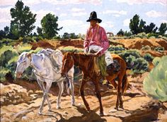 Ufer, Walter, 1876-1936: The White Pack  www.jacksonholeartauction.com