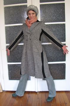 Interesting way to make a tight coat bigger.