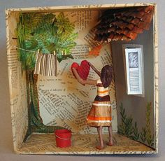 Discover recipes, home ideas, style inspiration and other ideas to try. Diy And Crafts, Crafts For Kids, Arts And Crafts, Paper Crafts, Handmade Crafts, Handmade Rugs, Shadow Box Art, Matchbox Art, Paperclay