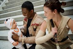 Adorable Finn, Rey, And BB_8 Family