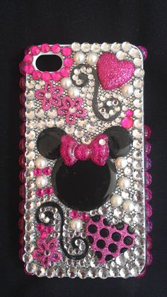 Bling Minnie Mouse Disney IPhone 4 Cell Phone by GlitzItUpShop, $25.00
