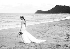 Beautiful bride by the sea | free image by rawpixel.com / Teddy Rawpixel Photo Poses For Couples, Wedding Bride, Wedding Dresses, Wedding Photoshoot, Free Photos, Beautiful Bride, Royalty Free Images, Marriage, Sea