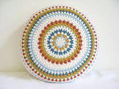 Resultado de imagen para crochet cojin redondo