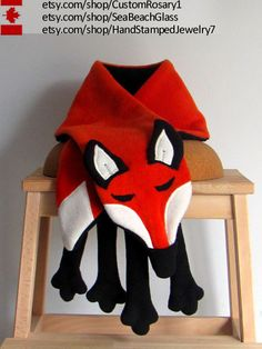 Fox. Faux Fox Scarf. Fox Scarf. Fleece Fox. Animal by babywearing