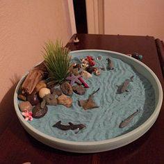 Paige Etheridge added a photo of their purchase Miniature Zen Garden, Mini Zen Garden, Desktop Zen Garden, New Job Gift, Garden Drawing, Mini Plants, Garden Features, Sand Art, Summer Crafts