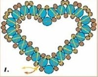 Beaded Heart PATTERN easiest Tutorial also for joining 2 hearts to make 3D heart.  excellent for beginners