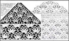 PATRONES=GANCHILLO = CROCHET = GRAFICOS =TRICOT = DOS AGUJAS: chal, chalina para tejer a crochet