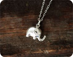 Because elephants remind me to live from a place of wonder. :: Sterling Silver Elephant Necklace