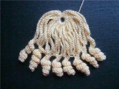 Идея вязания волос (парика) для куклы