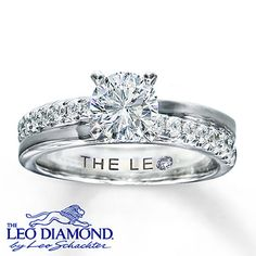 A round Leo Diamond is the center of attention in this lovely engagement ring for her that has been laser-inscribed with a unique Gemscribe® serial number. Additional diamonds combine with high-polish 14K white gold for added brilliance. With a total diamond weight of 1 1/3 carats, this fine jewelry diamond ring features independently certified diamonds.
