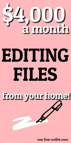 Make money from home editing files! This is a flexible side hustle that home that can make you a full time income. Reading to become a scopist? Earn Money From Home, Earn Money Online, Way To Make Money, Work From Home Opportunities, Work From Home Tips, Job Work, Marketing Program, Affiliate Marketing, Home Jobs
