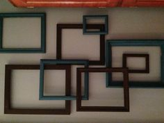 Frame Art! Spray Paint old picture frames and hang on wall!