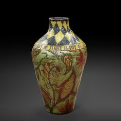 An original vase by Lucinda Mudge entitled: Leave All Love and Hope Behind, Out of Sight Is Out Of Mind, ceramic, h 48cm For more please visit www.finearts.co.za Pottery Art, Pottery Ideas, Love Is All, Vase, Ceramics, The Originals, Home Decor, Ceramica, Pottery