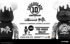 :CHOCOOLATE 10th Anniversary x BE@RBRICK x Milk Boxset