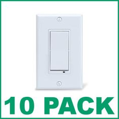 (10) EVOLVE LSM-15 Z-Wave Wireless Switch - 10 pack