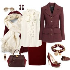 Red, Oxblood, Marsala for Valentine's Day2Night by style-inspiration-and-design on Polyvore featuring H&M, VC Signature, Etienne Aigner, Larkspur & Hawk, Caravelle by Bulova, Bee Charming, The Elder Statesman, Prada and Tommy Hilfiger