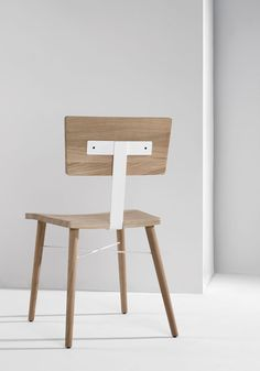 Universo Positivo oak and metal Dowel Chair   minimalist chair design   the perfect dining chair   Belgian furniture design