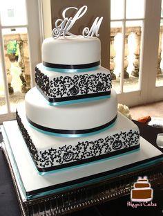 Elegant, Modern and Romantic Wedding Cakes - Personalized Wedding Cakes