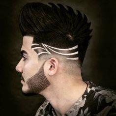 Ideas haircut fade designs medium long for 2019 Hair Designs For Men, Fade Designs, Medium Hair Cuts, Short Hair Cuts, Hairstyles Haircuts, Haircuts For Men, Fashion Hairstyles, Hair And Beard Styles, Curly Hair Styles
