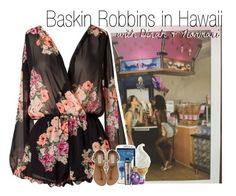 """""""Baskin Robbins in Hawaii with Dinah & Normani"""" by rowenafsouriya ❤ liked on Polyvore featuring Samsung, Benefit and Steve Madden"""