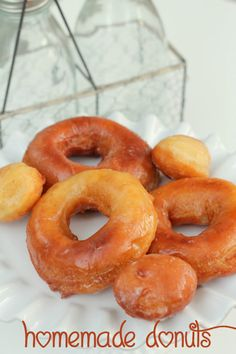 Homemade Donut Recipe. This is our family's favorite recipe! LOVE them! { lilluna.com } #donuts