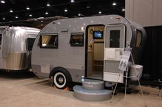 Airstream Scout, 2008 show concept trailer, canned ham rather than silver bullet style
