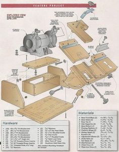 #2570 Bench Grinder Tool Rest Plans - Sharpening
