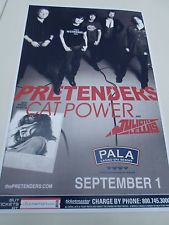 "Pretenders Concert Poster Cat Power San Diego Pala Casino Spa Resort 11""x17"""