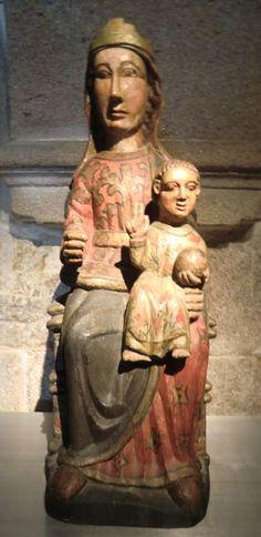Statue, 13. Jahrhundert, im Museum der Kathedrale in Santiago de Compostela