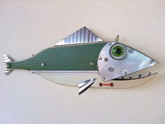Excited to share the latest addition to my #etsy shop: Fish Sculpture, Handmade, Steampunk fish, Fishing pole, Fishing lure, fishing reel, beach decor, fisherman gift, fish art, rat rod art https://etsy.me/2vdBDHW #art #fishing #fishsculpture #fishingreel #steampunkfis