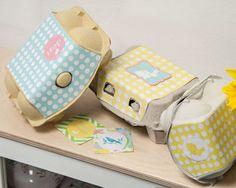 Ostern DIY: Eierkartons für kleine Geschenke Geschenke hübsch verpacken.