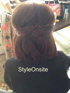 Mother of the Bride, half up, shorthair, half up half down short hair updo, prom, bridesmaid, special event, bride