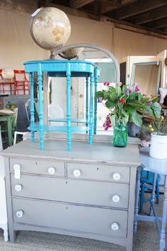 Modern Cottage Shop-- I have a close atch to the table on the top, must paint this color