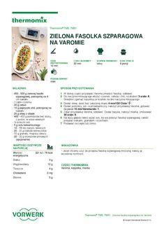 thermomix - Zielona fasolka szparagowa na varomie