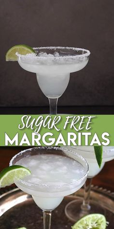 Nothing better than a refreshing margarita on a hot day! These skinny margaritas are just lime juice, tequila, and a little orange extract. Add sweetener to taste if you desire. So good and keto-friendly! #margaritas #cocktails #beverages #summerdrinks #margaritarecipes