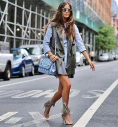 look colete street style sandália franjas