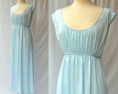 0ae7fb12e0 Goddess Nightgown -- Pastel Blue Maxi Negligee