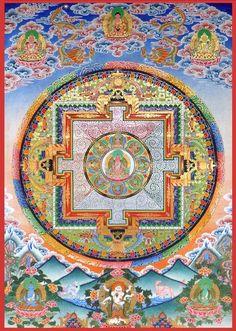 garden of the far east Buddha Buddhism, Tibetan Buddhism, Buddhist Art, Tibetan Mandala, Tibetan Art, Mandala Design, Mandala Art, Shri Yantra, Vajrayana Buddhism