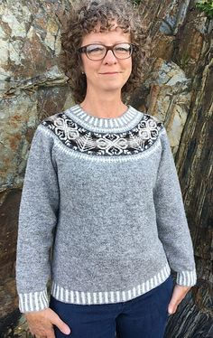 Ravelry: Shetland Tree and Star Yoke Pullover pattern by Marci Richardson Casual Wear Women, Fair Isle Knitting, Free Pattern, Knit Crochet, Knitting Patterns, Cool Style, Pullover, Stars, Sweaters
