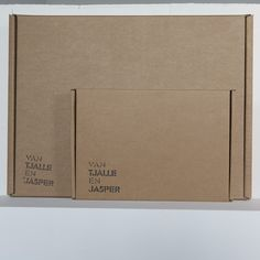 Cardboard packaging for our Laser Cut Lamps. Clean, simple and need.