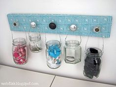 jars and handles = cool holders!