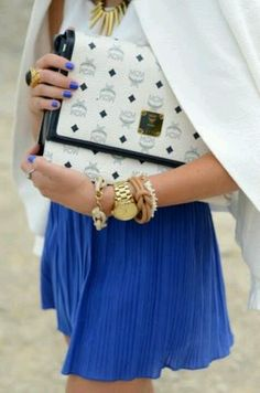 Mcm bag and blue