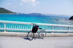 Using a rental bicycle is a great way to explore Aka Island (Kerama Islands, Okinawa).