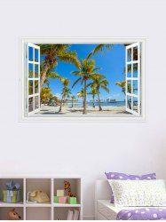 Palm Seascape 3D Fake Window Wall Sticker