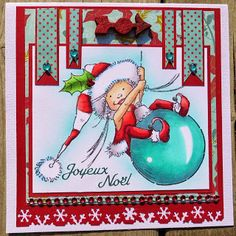 010114 by Magouille - Cards and Paper Crafts at Splitcoaststampers Christmas Cards, Xmas, Ceramic Bisque, Art Impressions, So Creative, Scrapbooking, Copics, Handmade Christmas, Elf