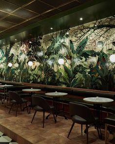 Mahjong Bar Toronto Pub Design, Lounge Design, Bar Lounge, Bar Interior Design, Coffee Shop Design, Interior Design Inspiration, Back Bar Design, North Design, Design Bar Restaurant